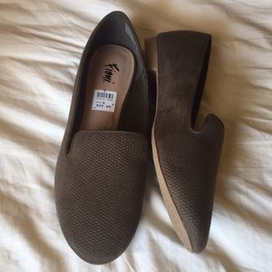 Olive Green Flats Cute Slip on Shoes